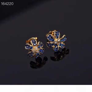2020 New European and American fashion horse eye drilling stud luxury customized sub-gold with S925 silver needle tassel earrings