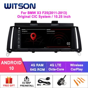 """WITSON Android 10.0 8.8"""" CAR DVD GPS For X3 F25 2011-2013 4GB+64GB AUTO MULTIMEDIA RADIO GPS NAVIGATION CIC System"""