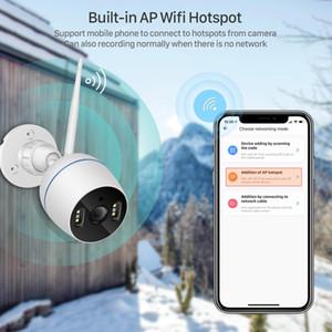 HD 2MP 1080P wasserdichte WiFi IP-Kamera Zwei-Wege-Audio-Funk-Außenkamera 20M farbenNachtSicht CCTV-Sicherheit Camere
