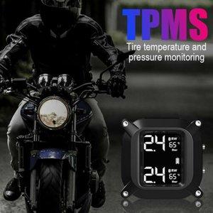 Wasserdichte Motorrad TPMS Tire Pressure Monitoring System 2 externe Sensoren