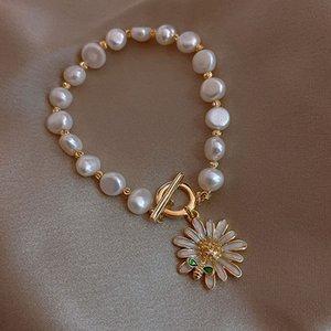 S1710 Sıcak Moda Takı Vintage Daisy kolye Ayçiçeği İnci Boncuk Bilezik