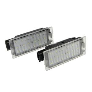 12V White LED Number License Plate Light For Twingo Clio Megane Lagane