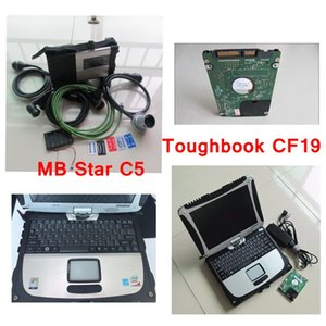 Super MB SD Star C5 Diagnosis with laptop cf19 Toughbook diagnostic PC installed latest MB Star C5 software V2020.05 for SD