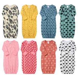 Newborn Multi-color Pajamas 8 Designs Cartoon Car Animal Printed Baby INS Infant Soft Swaddles Spring Autumn Nightgowns 9-18M 04