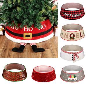 Árbol de Navidad Decoración Decoración de fiesta del árbol de navidad de la falda de Navidad Suministros Disposición delantal Caja de regalo de empaquetado XD23985