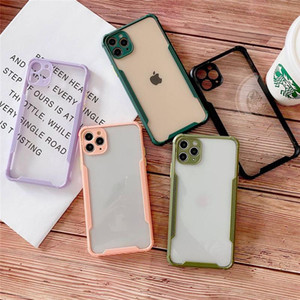 NEW SE2020 Clear Back Colorful Square Frame Case for Iphone 11 X 7 8 HUAWEI