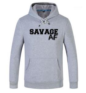 Designer pulôver manga comprida lapela pescoço Hoodies Casual Moletons Masculino Vestuário Savage Imprimir Mens