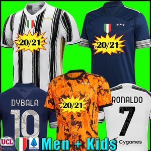 Maillot football player JUVENTUS PALACE chemises de football RONALDO DE Ligt 20 21 Dybala JUVE quatrième hommes + uniformes kit d'enfants 2020 2021
