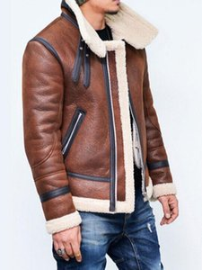2020 Hot motocicleta PU Leather Jackets Inverno Homens Faux Fur Jacket Coats Mens Outwear lã quente casaco de caxemira Cotton Parkas