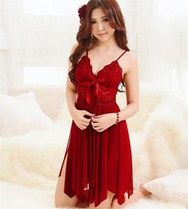 Toptan-Marka Uyku Elbise Kadınlar Dantel Gecelik Kadın kıyafeti Egzotik Temptation nighties Kadın Gece Elbise İç Seksi Sleeps PPZB #