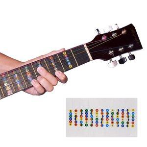 Chitarra Fretboard Note Mappa etichette adesive Fingerboard Fret decalcomanie per 6 corde elettrica acustica Guitarra NY049