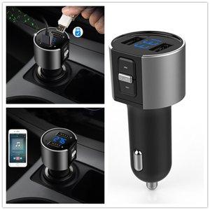 Drahtlose In-Car-Bluetooth-FM-Sender-Radioadapter Auto-Kit Black MP3-Player USB-Gebühr Kostenloser Versand