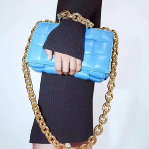 Yeni Çanta Kadınlar Çanta Tasarımcı Örgü Gerçek Deri Zincir Omuz Çantası Çantası Mischpalette Dokuma Çantalar ve kaset Çantalar
