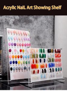 Nail Art exibição Board prego cartão da cor Display Stand Amostra Polish Shelf acessórios e ferramentas