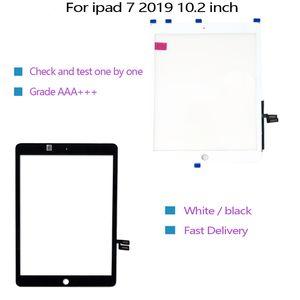 Para iPad 7 2019 10,2 pulgadas de pantalla A2197 A2200 A2198 digitizador de panel de cristal con cinta adhesiva