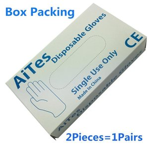 Guantes caliente de alta calidad barato desechable Negro / espesar guante guantes de examen de látex de nitrilo azul