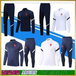 Tuta da allenamento 2 stelle France 19 20 POGBA manica lunga Survetement maillot de foot 2019 2020 MBAPPE sportswear set giacca tuta da calcio