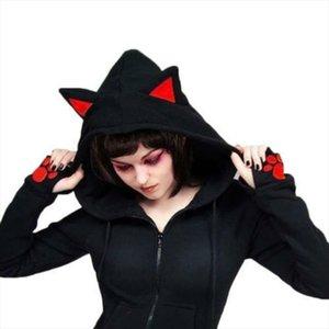womens Hoodies 2020 Female Women Casual Hoodies Long Sleeve Hoody Cat Ears Printed Drop Shipping Good Quality
