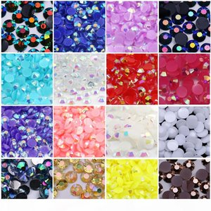 Jelly White AB Resin Flat back Rhinestone All Size 3mm,4mm,5mm,6mm in wholesale prcie with best quality rhinestone