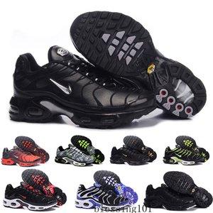 2019 neue Laufschuhe Männer TN Schuhe tns und Mode Erhöhte Ventilation beiläufige Trainer Olive blau schwarz Sneakers Chausseures HJ59C rot