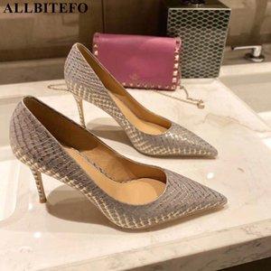 ALLBITEFO 새로운 fshion 브랜드의 높은 발 뒤꿈치 결혼 여성 신발 여성 높은 뒤꿈치 신발 apring / 가을 woemn 발 뒤꿈치 여자