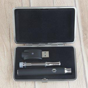 Sigaretta elettronica Metal Case Kit 350mAh tensione variabile della batteria Vape 0,5 0,8 1ml Svuotare cartuccia olio wickless Ceamic vetro per Thick Oil