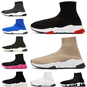 sock shoes speed trainers mens womens platform sneakers tripler étoile vintage Graffiti outdoor casual shoes women ankle socks boots