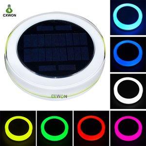 Float Solar Powered Piscina Lamp LED RGB luzes subaquáticas Piscina Exterior Fountain luzes Água Pond Lâmpada Lighting