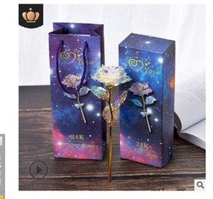 2020 hot sale 24K gold foil rose Gold rose gilded rose color Golden R Set Valentine's Day gift activity