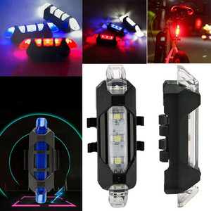 2020 Bicycle Tail Lights Rechargeable Mountain Bike Night Riding LED USB Waterproof Warning Lights Riding Accessories HOT^^