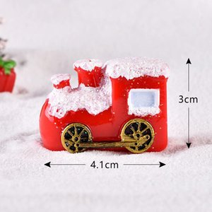 Ornamento Sleigh Micro paisagem da neve Cena do Natal Decor Dollhouse Miniature Árvore Snowman Gift Box Decor Natal