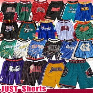 Chicago Bulls Los Angeles Basketball Shorts Gerade Memphis DON Toronto Raptors Grizzlies Orlando Supersonic 76ers Magie Kolben-Wärme Pacers 23