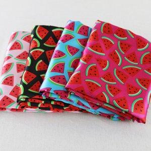 Charmeuse material suave y sedosa de satén bufandas Forros de bricolaje sandía Tela