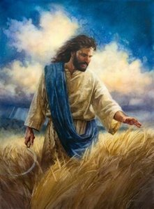 Nathan Greene Jesus reaping the harvest Home Decor Handpainted &HD Print Oil Painting On Canvas Wall Art Canvas Pictures 7129
