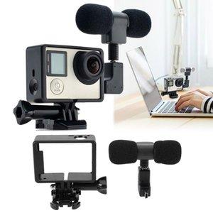 3,5 mm Mikrofon Adaptörü Kablo Cord için Kahraman 3/3 + / 4 USB için aksesuarlar Pro Mini Stereo Mikrofon + Standart Çerçeve Kılıf için
