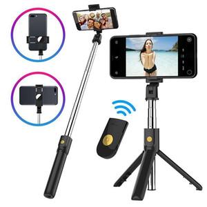 K10 Bluetooth Selfie Stick Mobile Phone Holder Horizontal Shoot Vertical Live Selfie Stick Mini Tripod Selfie Stick