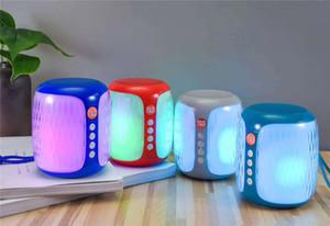 G611 Renkli Işıklar Kablosuz Mini Bluetooth Hoparlör Doğa Sporları Taşınabilir Sütun Hoparlör Subwoofer Ses Girişi Hi-Fi Loud DHL ücretsiz