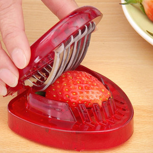 Strawberry Slicer Fruit Vegetable Salad Slicer Kitchen Gadget Accessories Cake Strawberry Decoration Cutter Stainless Steel Slicer ZX BH2089