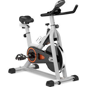 US Lager, Indoor Cycling Bike Stationär, Gürtel Glatte Heimtrainer mit Aufmaß Soft-Sattel und LCD-Monitor MS192377AAE Driven