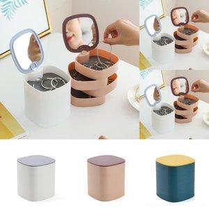 mNxyo Wand Box Maske Badezimmer Kosmetik Exquisite Finishing Kunststoff Transparent Leicht Make-up Hautpflege Spin Lagerung Korean Produ