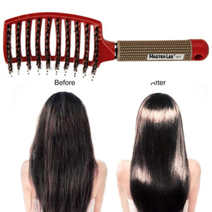 2020 Women Hair Scalp Massage Comb Bristle & Nylon Hairbrush Wet Curly Detangle Hair Brush for Salon Hairdressing Styling Tools