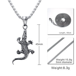 RUIYI LN26 steel necklace hot sell popular single women 45mm Black gold crocodile USA lover gift women jewelry