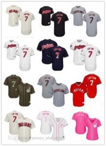 custom Sports 7 Kenny Lofton Baseball Jerseys ClevelandIndians Indian men women youth red white high-quality jersey free ship