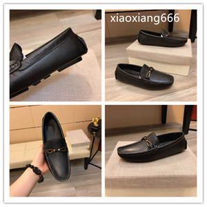 2020 neue Art und Weise Erbsen beiläufigen Männer Schuhe oberen nimmt italienische Oberschicht Kuhhaut, feine Verarbeitung, Mode-Modell Modellierung rubberwe1 importiert