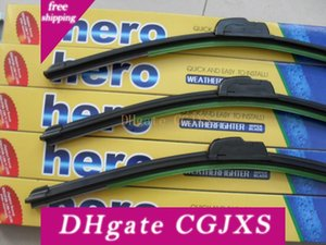 New Wholesale 500 Pcs  Lot Fedex Free Car Wiper Blade ,Natural Rubber Car Wiper Auto Soft Windshield Wiper Any 2 Size Choice 14 -26in