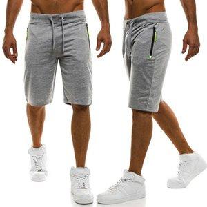 2020 New Men Solidee Shorts Casual Male heißen Verkaufs-Zipper Cargo-Shorts Knielänge Mens-Sommer-kurze Hosen-Homme