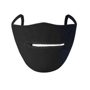 2020 yeni Creative Fermuar Yüz Yıkanabilir Yeniden kullanılabilir Örtü Koruyucu yüz maskeleri Epacket içimi kolay Fermuar Tasarım Maske