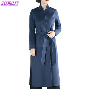 Lana 2020 di alta qualità autunno inverno delle donne Double-sided di lana Giacche Cappotti Moda spessa lunga sottile di lana cappotti IOQRCJV Q131
