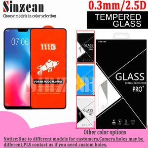 111D Voll Kleber Ausgeglichenes Glas-Schirm-Schutz für Vivo X23 / X30Pro / V9 / X27 / X23 / X21S / V17 im Karton