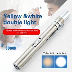 USB recarregável Handy Light Pen Mini Enfermagem LED Tocha clipe com aço inoxidável bolso Led
